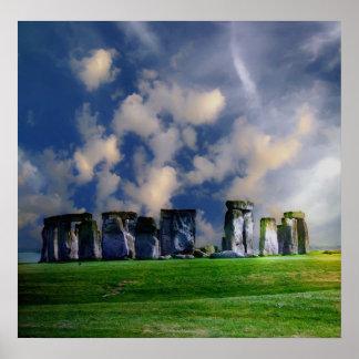 Paisagem de Stonehenge Poster