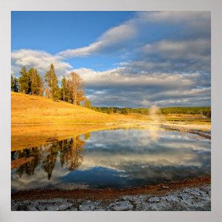 Paisagem de Yellowstone Pôster