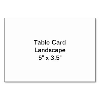 Paisagem do cartão da mesa