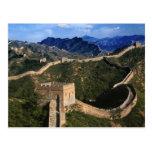 Paisagem do Grande Muralha, Jinshanling, China Cartão Postal