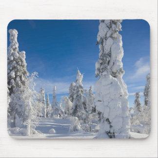 Paisagem do inverno em Lappland Mouse Pad