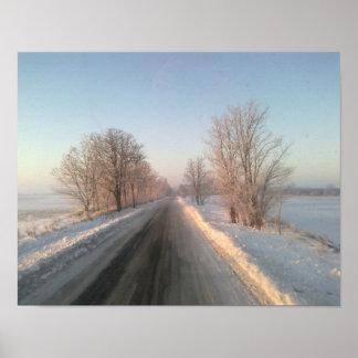 paisagem do inverno poster