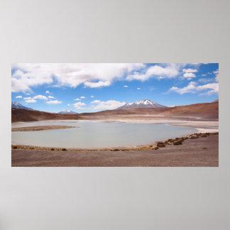 Paisagem do lago no Altiplano Poster