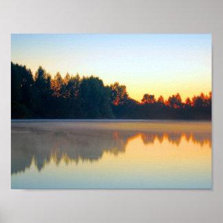 Paisagem do lago poster