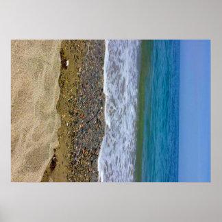 Paisagem do mar pôster