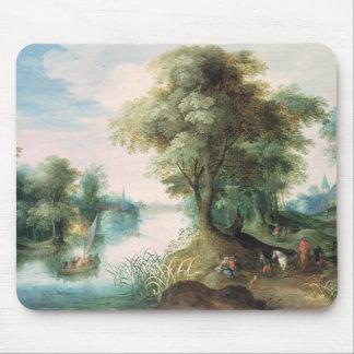 Paisagem do rio mouse pad