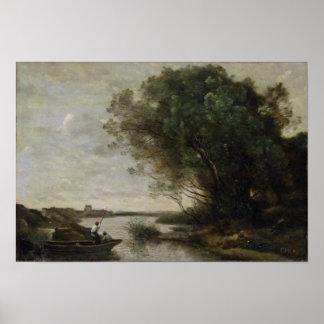 Paisagem do rio poster