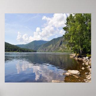 Paisagem do verão com rio poster