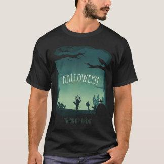 Paisagem do zombi do Dia das Bruxas Tshirt