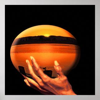 Paisagem em um globo, poster