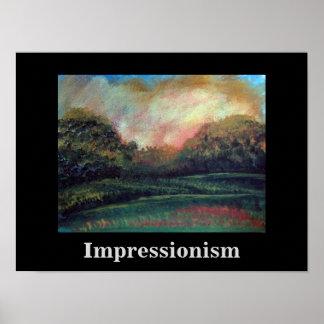 Paisagem impressionista por Carole Tomlinson Poster
