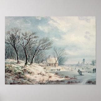 Paisagem: Inverno Poster