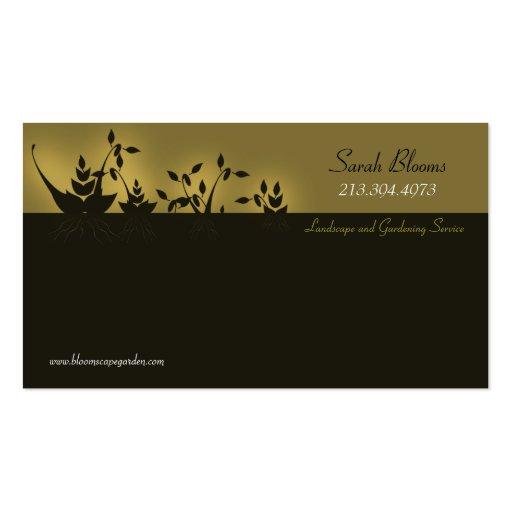 Paisagem & jardinagem \ cartão de visita do floris