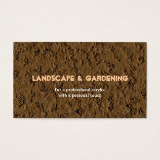 Paisagem & jardinagem cartão de visitas