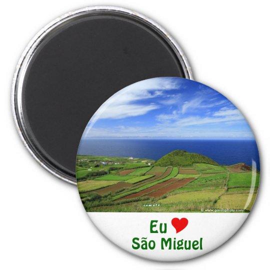 Paisagem litoral de Açores Ímã Redondo 5.08cm