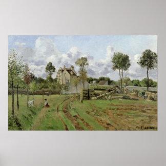 Paisagem, Louveciennes, c.1872 Pôsteres