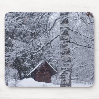 paisagem nevado mouse pads