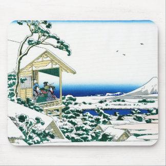 Paisagem oriental legal da opinião de Hokusai Fuji Mouse Pad
