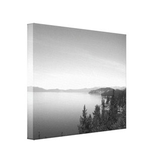 Paisagem preto e branco 16 impressão de canvas envolvidas