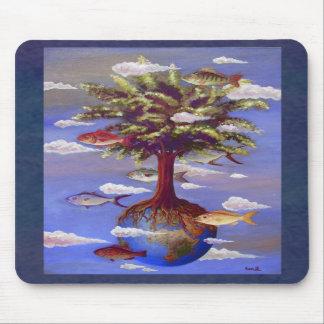 Paisagem surreal Mousepad do óleo por Ann Howard