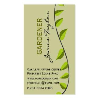 Paisagem verde de jardinagem da folha do jardim cartão de visita