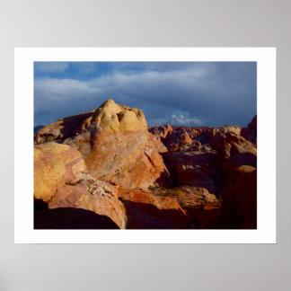 Paisagens americanas do deserto: Vale do fogo Poster