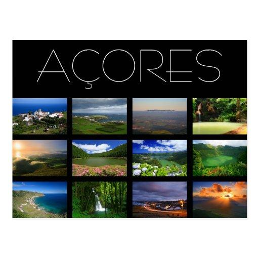 Paisagens de Açores Cartoes Postais