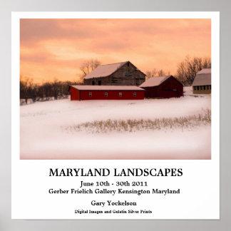 Paisagens de Maryland Poster