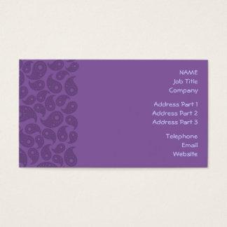 Paisley. roxo escuro cartão de visitas