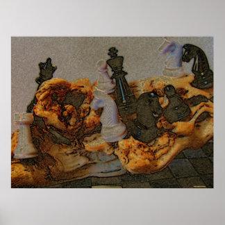 Paixão do poster da fotografia da xadrez
