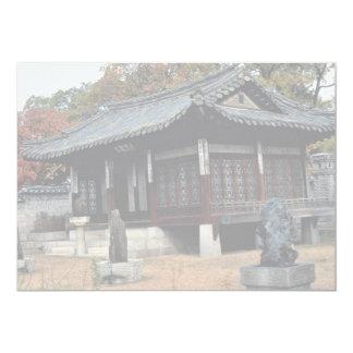 Palácio de Changdok na queda Convite 12.7 X 17.78cm