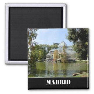 Palácio de cristal, ímã de Madrid Ímã Quadrado
