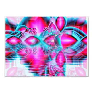 Palácio de cristal vermelho do rubi, jóias convite 12.7 x 17.78cm