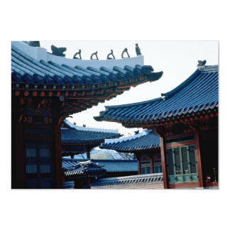 Palácio de Kyongbok Convite 12.7 X 17.78cm