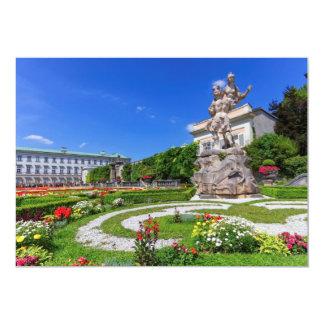 Palácio de Mirabell e jardins, Salzburg, Áustria Convite 12.7 X 17.78cm