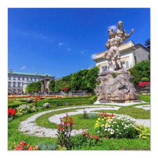 Palácio de Mirabell e jardins, Salzburg, Áustria Convite Quadrado 13.35 X 13.35cm