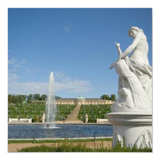 Palácio de Sanssouci Convite Quadrado 13.35 X 13.35cm