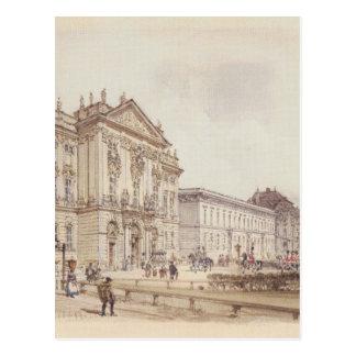 Palácio de Trautson em Viena por Rudolf von Alt Cartão Postal