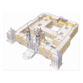 Palácio do nacional de Mafra. Lisboa Portugal Cartão Postal