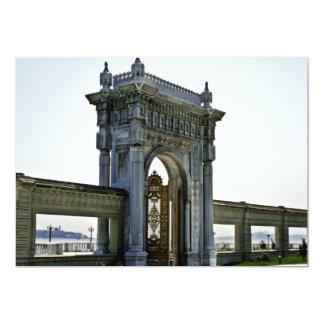 Palácio do otomano de Ciragan, do beira-mar - Ista Convite 12.7 X 17.78cm