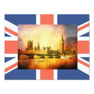 Palácio e ponte de Westminster com Big Ben Convite