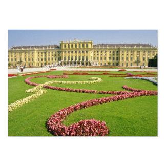 Palácio europeu clássico cor-de-rosa, fluxo de convite 12.7 x 17.78cm