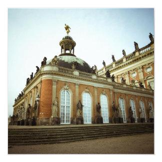 Palácio novo convite quadrado 13.35 x 13.35cm