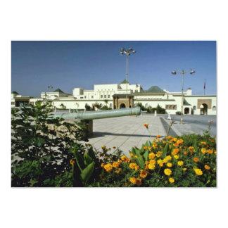 palácio real amarelo, Rabat, capital do flo de Convite 12.7 X 17.78cm