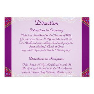 palácio roxo India do cartão de 3,5 x 5 sentidos Convite 8.89 X 12.7cm