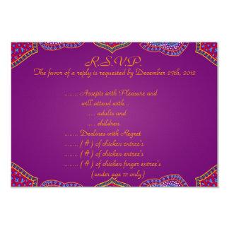 palácio roxo India do cartão de resposta de 3.5x5 Convite 8.89 X 12.7cm