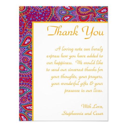 palácio roxo India dos cartões de agradecimentos 4 Convites