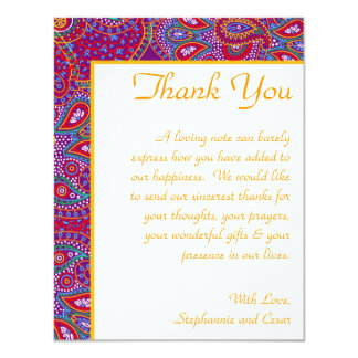 palácio roxo India dos cartões de agradecimentos Convite 10.79 X 13.97cm