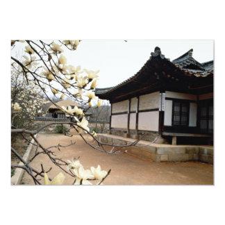 Palácio velho no primavera convite 12.7 x 17.78cm