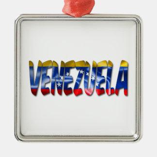 Palavra de Venezuela com o ornamento da textura da